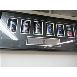 Framed Pepsi Stanley Cup Cans