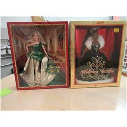 2006 & 2011 Holiday Barbie