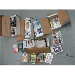 Boxes of mostly 1990's Baseball and hockey cards