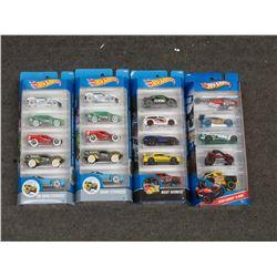 4 Hot Wheels 2016 5 Packs