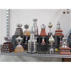 NHL Greatest Replica Trophies in Case