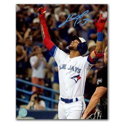 761f0c6d514 Lourdes Gurriel Jr Toronto Blue Jays Autographed Home Run Celebration 8x10  Photo (AJ SPORTS)