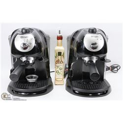 LOT OF 2 DELONGHI ESPRESSO COFFEE MAKERS