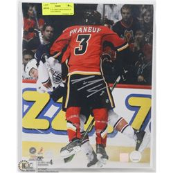 CALGARY FLAMES DION PHANEUF SIGNED 11X14 PHOTO