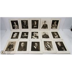 LOT OF 15- 1920'S DAILY WAR ALBUM PHOTO PRINTS