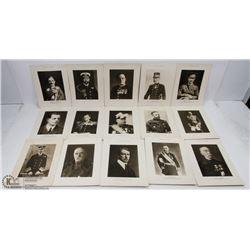 LOT OF 15- 1920'S DAILY WAR ALBUM PHOTO PRINTS