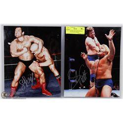 WWE SUPERSTARS IRON SHEIK & GREG VALENTINE SIGNED
