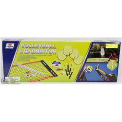 NEW BADMINTON / VOLLEYBALL SET IN BOX