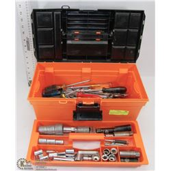 TOOLBOX W/ HAND WRENCHES NUT DRIVERS SOCKETS