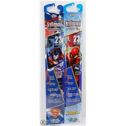 "TWO NEW SKY DIAMOND 23"" TALL KITES, SUPERMAN THEM"