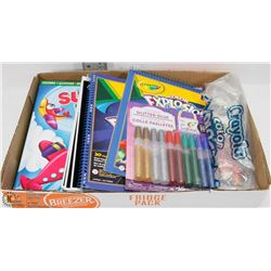 CHILDRENS COLOURING & ACTIVITIES LOT - CRAYOLA &