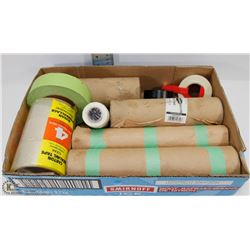 FLAT OF MASKING PAPER & VARIOUS TYPES OF TAPE