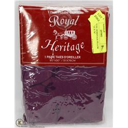 NEW ROYAL HERITAGE PILLOW CASE SET 51 X 76""