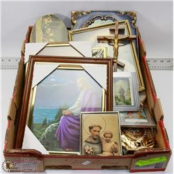 FLAT OF RELIGIOUS PICTURES & ICONS