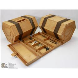PAIR OF ROLYKIT TOOLBOXES WITH CONTENTS OF SCREWS