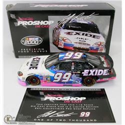 80)PRO SHOP 1/18 SCALE DIE CAST, 2000 EXIDE FORD