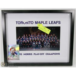99) AUTHENTIC AUTOGRAPH TORONTO MAPLE  LEAFS