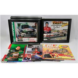 88)BOX OF RACE TRACK HAND OUTS SOME SIGNED 14