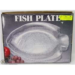 NEW GLASS FISH PLATE SERVING TRAY