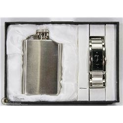 FONDINI COLLECTION WATCH & FLASK GIFT SET