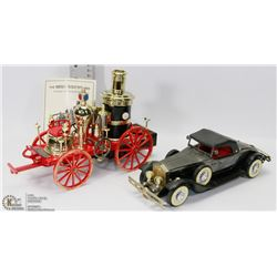 MISSISSIPPI 1869 FIRE ENGINE AND ANTIQUE CAR