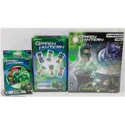 GREEN LANTERN GLOW PUZZLE WITH DOMINOS AND WAR