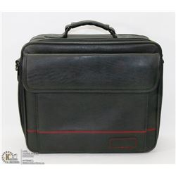 TARGUS BLACK LEATHER LAP TOP BAG