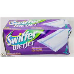 NEW SWIFFER WET JET CLEANING PADS 12PKG