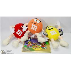 3 M&M  COLLECTIBLES AND A  PICTURE
