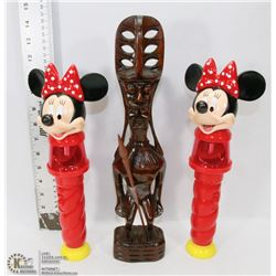 BOX OF 2 LIGHT UP MINNIE MOUSE COLLECTIBLES & MORE