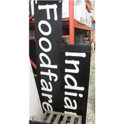 RESTAURANT HEAVY DUTY SIGN WITH LIGHT UP APPROX