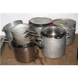 LARGE LOT OF POTS AND PANS