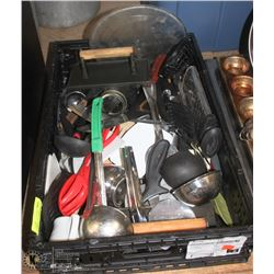 FLAT OF COMMERCIAL UTENSILS