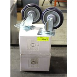 NEW CASTORS - 2 LOCKING, 2 NON-LOCKING WITH 4