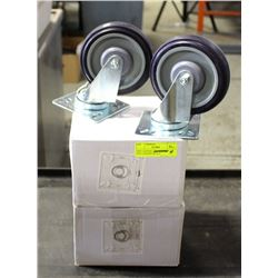 NEW CASTORS - 2 LOCKING, 2 NON-LOCKING WITH 4""