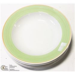 "NEW 11"" GREEN PASTA BOWL (LOT OF 12)"