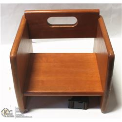 WALNUT BOOSTER SEAT - TABLECRAFT NEW