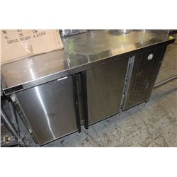 4FT DIAMOND S/S 2-DOOR UNDERCOUNTER COOLER