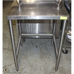 STAINLESS STEEL 2FT X 2FT COMMERCIAL STAND W/ BACK