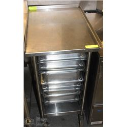 """24"""" X 18"""" S/S CART WITH FULL SIZED INSERTS"""
