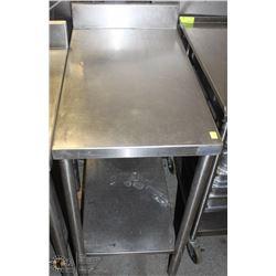 "30"" X 18"" S/S TABLE WITH BACKSPLASH"