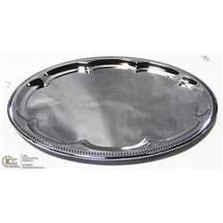 """NEW OVAL TRAY 18"""" PLATED STEEL - LOT OF 4"""