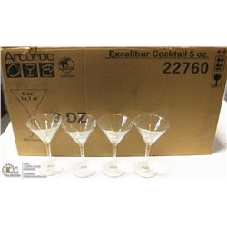 NEW ARCOROC 5 OZ MARTINI GLASS (LOT OF 24)