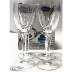 NEW MICHELANGELO 2 1/4 OZ LIQUEUR GLASS (LOT OF 4)