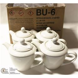 NEW STEELITE 11 OZ TEAPOT   (LOT OF 4)