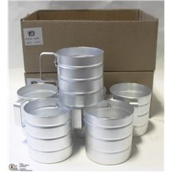 LOT OF 12 NEW 0.5 QT ALUMINUM DRY INGREDIENT