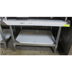 ME#05) 30 X36  S/S EQUIPMENT STAND WITH GALVANIZED