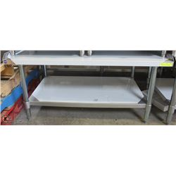 "ME#06) 30""X48"" S/S EQUIPMENT STAND WITH GALVANIZED"
