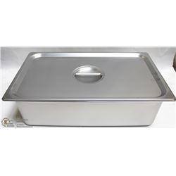 ME#11) S/S FOOD PAN FULL SIZE 6  DEEP W/ LID