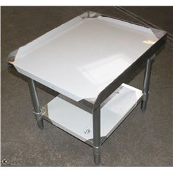 """ME#08) 30""""X24"""" S/S EQUIPMENT STAND WITH GALVANIZED"""